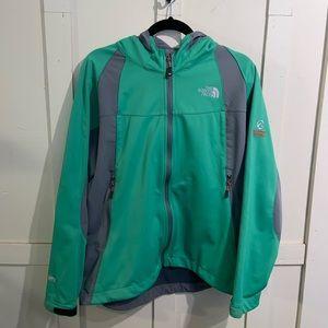 The North Face green/grey summit series windbreaker jacket size xl